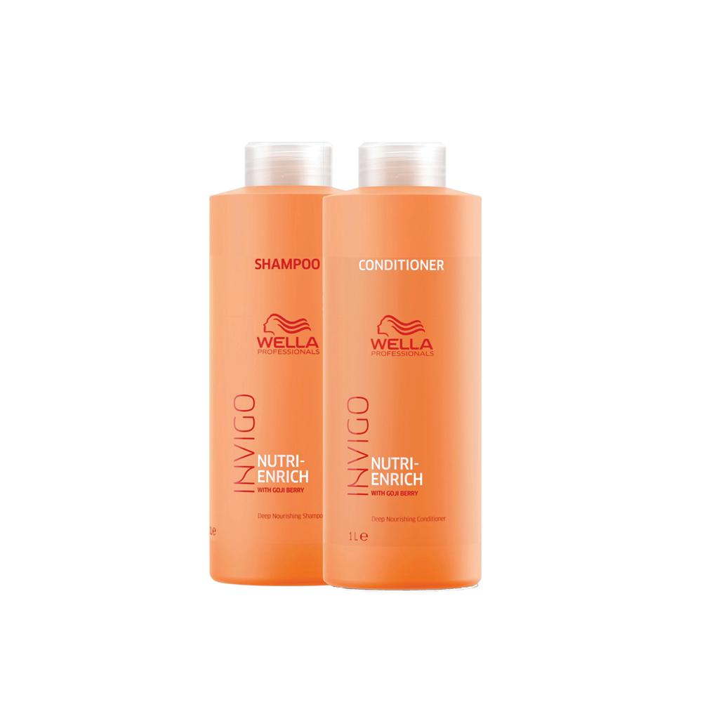 Kit Wella Enrich 1000ml (Shampoo e Condicionador)