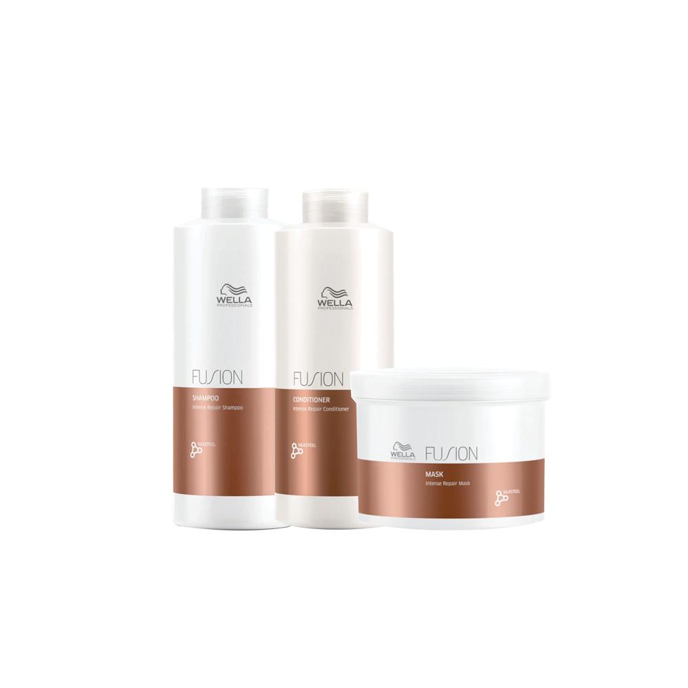 Kit Wella Fusion (Shampoo, Condicionador e Máscara)