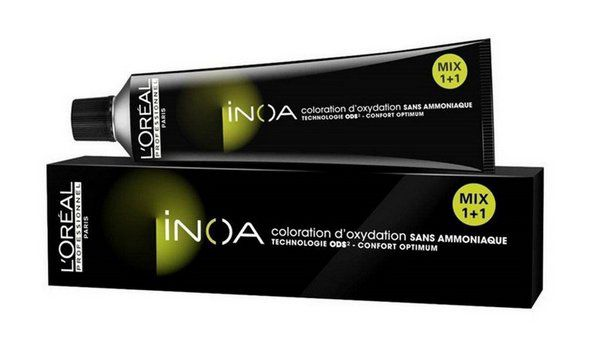 Loreal Inoa Hair Coloração sem Amônia 6.18 Louro Escuro Acinzentado Marrom 60g