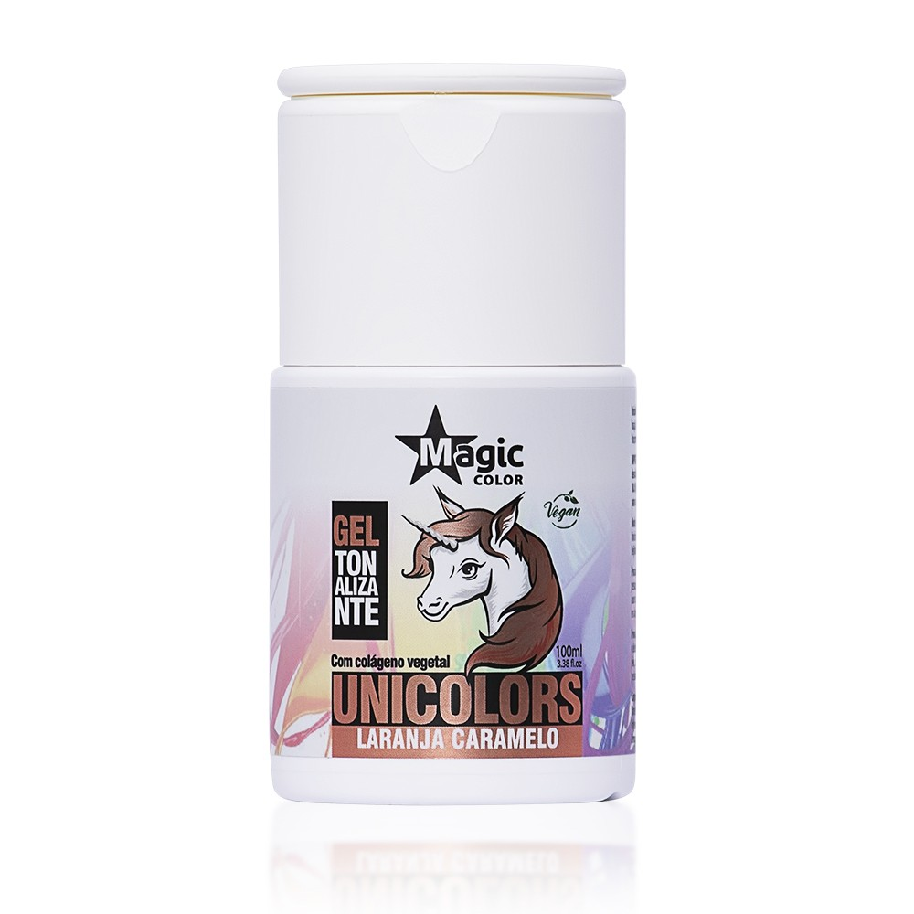 Magic Color Tonalizante Unicolors Cor Laranja Caramelo - 100ml