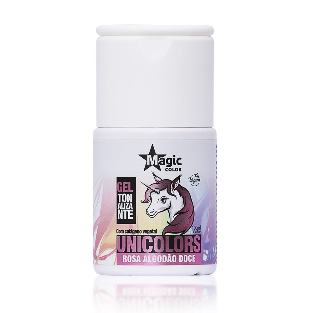 Magic Color Tonalizante Unicolors Cor Rosa Algodão Doce - 100ml