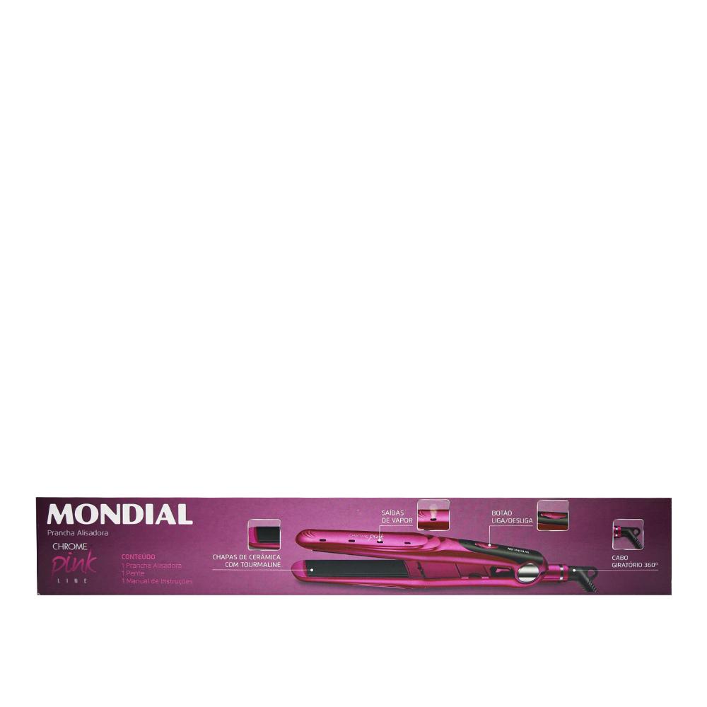Prancha  Mondial Chrone Pink  Bivolts