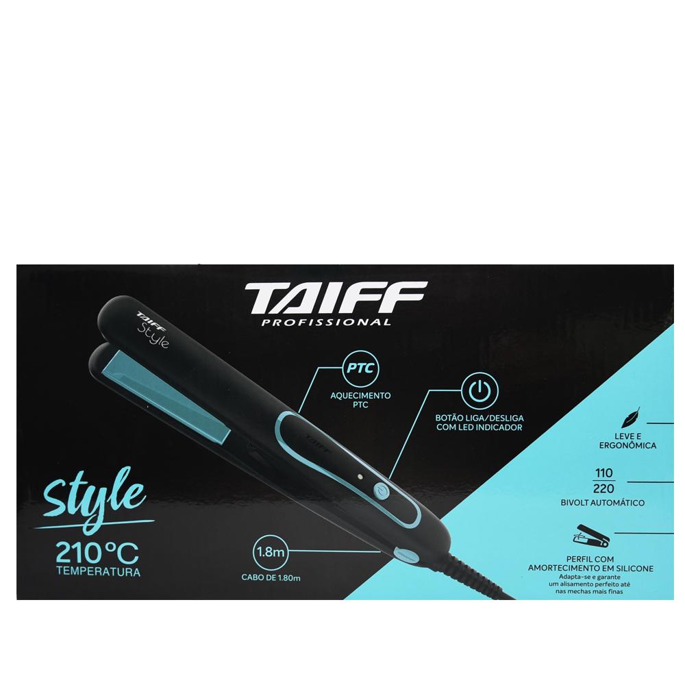 Prancha Taiff Style 210ºC Preta com Azul Bivolt