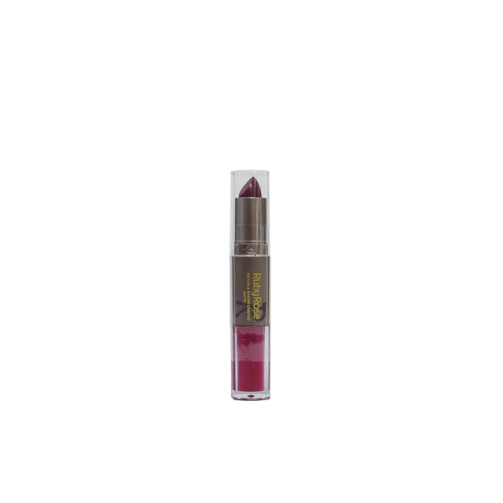 Ruby Rose Batom 2x1 Líquido Matte Cor 171 HB8606M