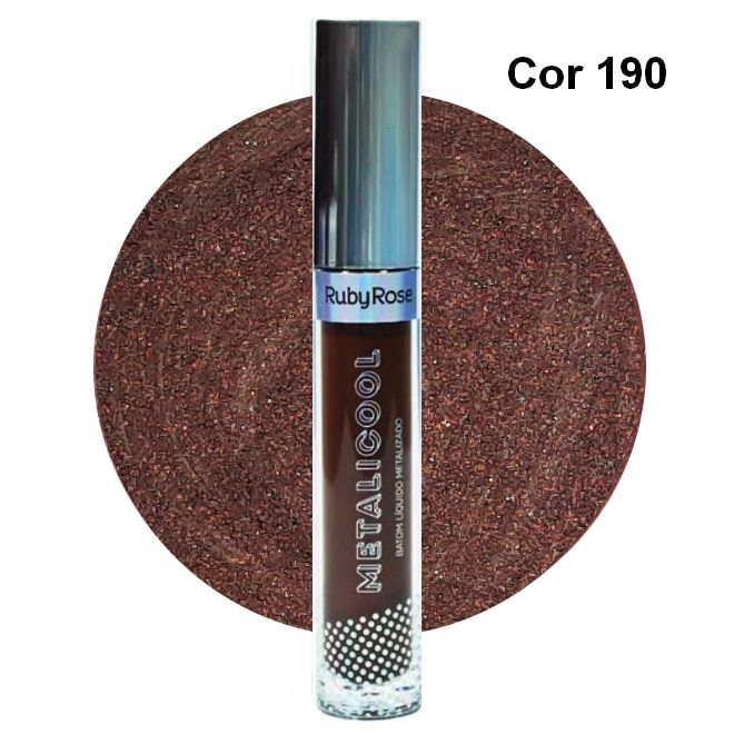 Ruby Rose Metalicool Batom Líquido Metalizado Cor 190