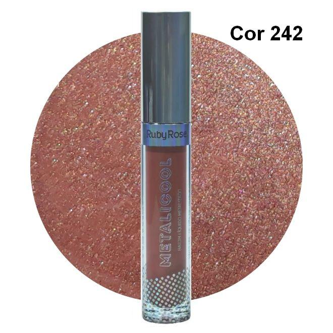 Ruby Rose Metalicool Batom Líquido Metalizado Cor 242
