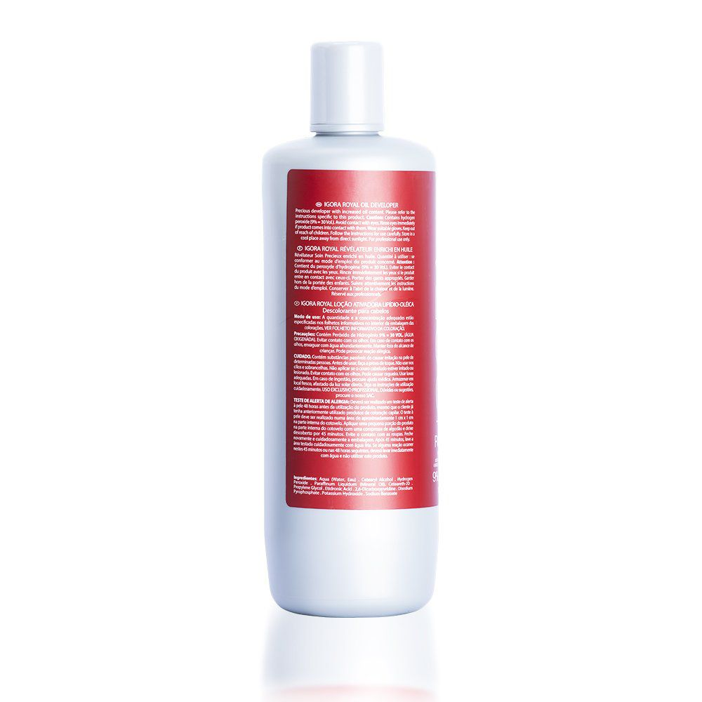 Schwarzkopf Água Oxigenada Igora Royal 40Vol 12% - 1000ml