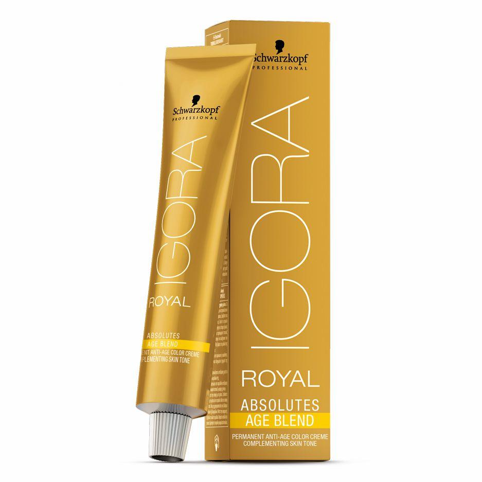 Schwarzkopf Igora Royal Absolutes Age Blend 6.07 Louro Escuro Natural Cobre 60g