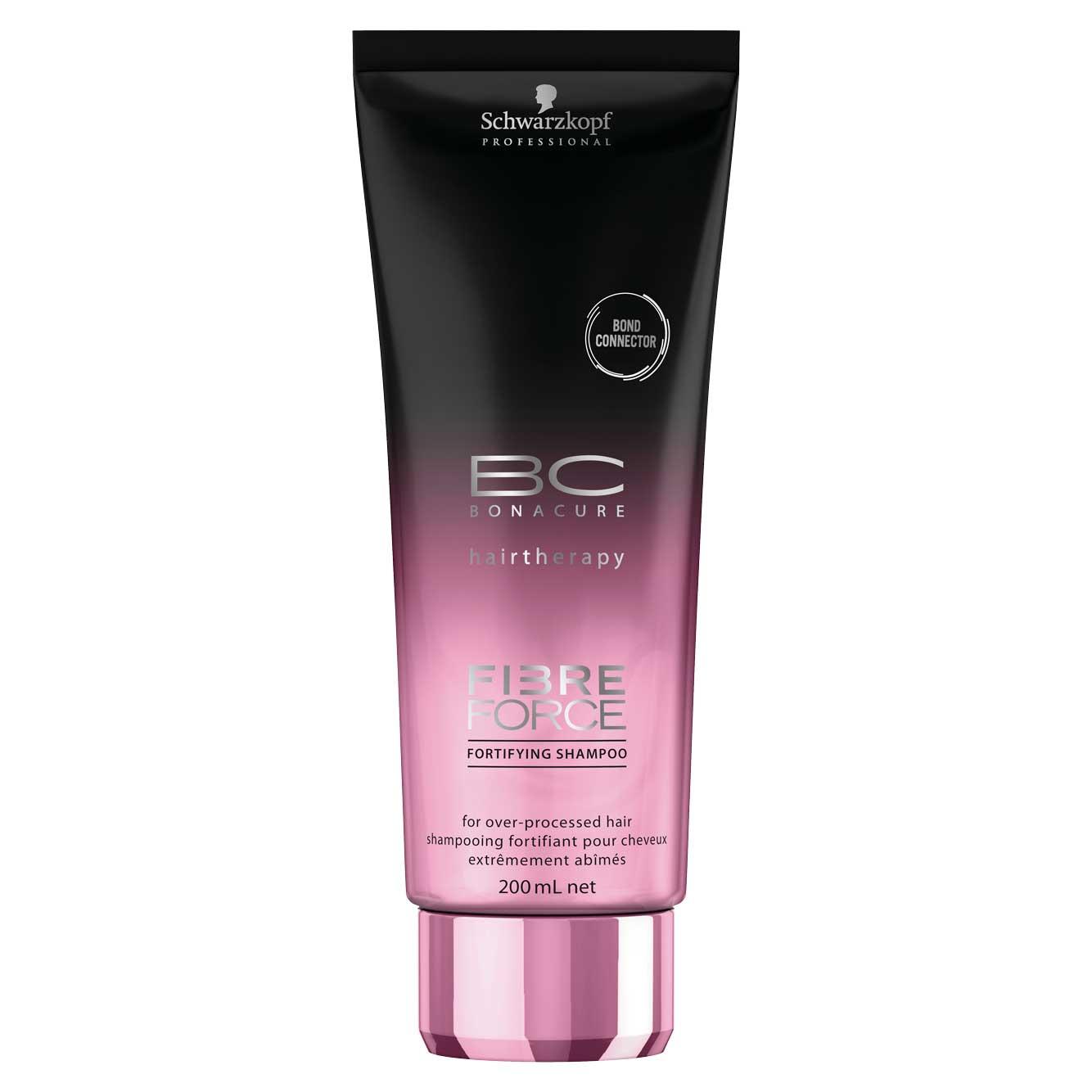 Schwarzkopf Professional BC Bonacure Fibre Force Shampoo Fortificante para Cabelos Danificados 200ml