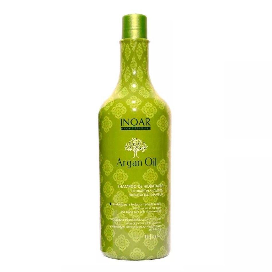 Inoar Shampoo Hidratação Argan Oil System - 1L
