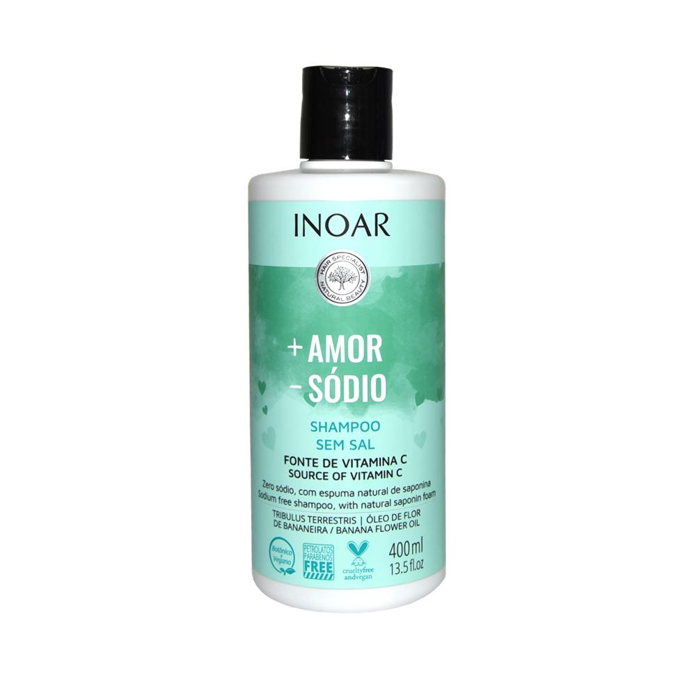 Shampoo Sem Sal Inoar + Amor - Sódio 400ml