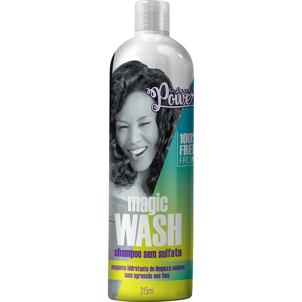 Soul Power Shampoo Sem Sulfato Magic Wash - 315ml