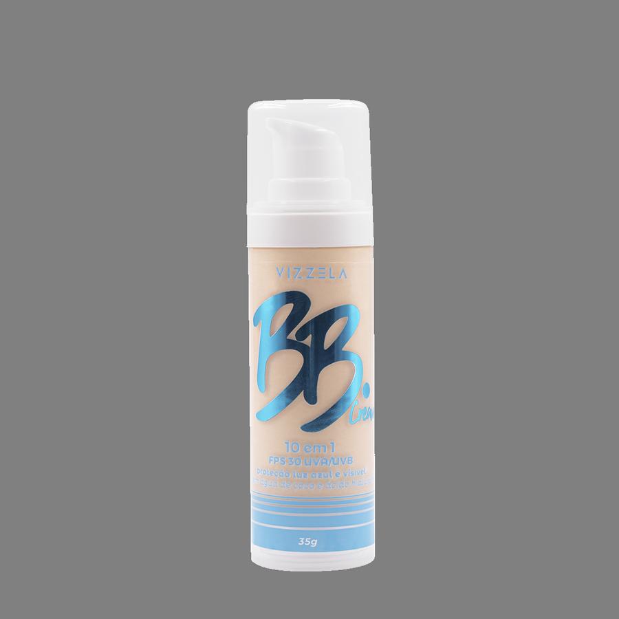 Vizzela BB Cream Cor 01 FPS 30 Uva/Uvb Proteção Luz Azul e Visivel 10 em 1 - 35g