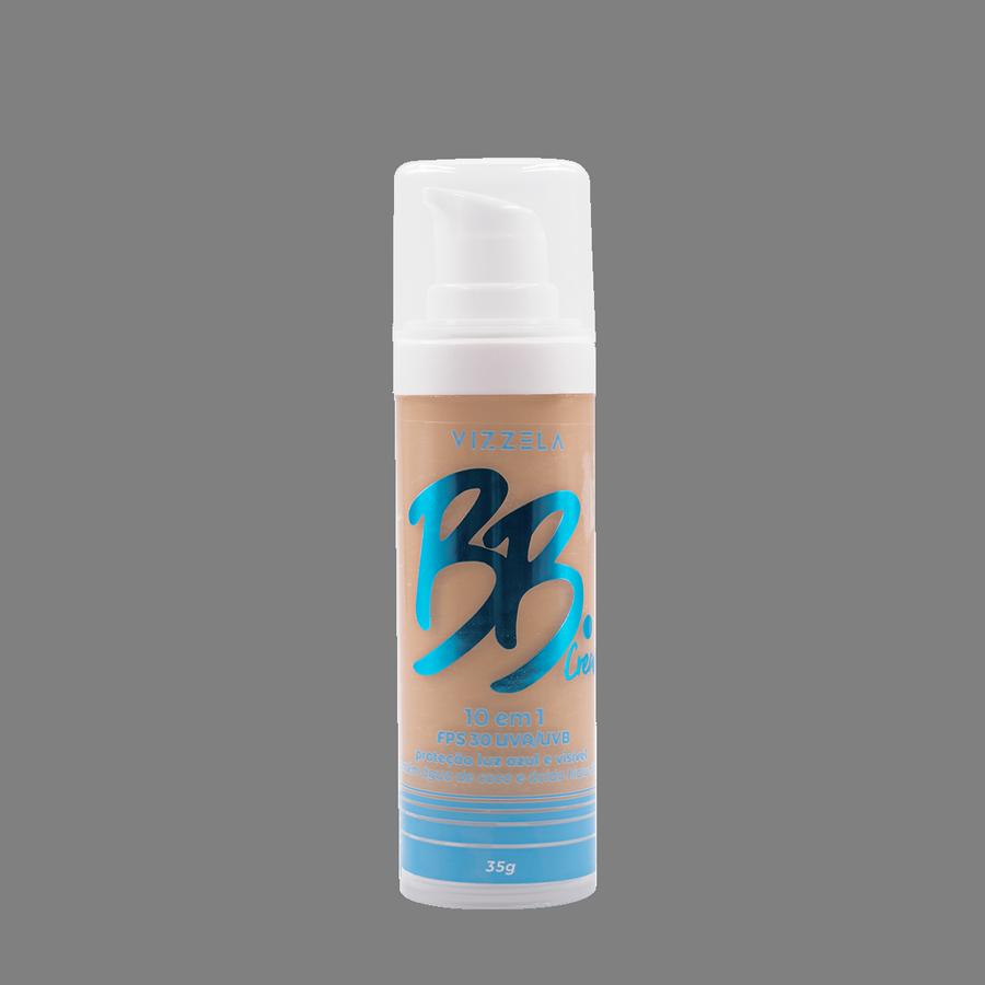 Vizzela BB Cream Cor 03 FPS 30 Uva/Uvb Proteção Luz Azul e Visível 10 em 1 35g