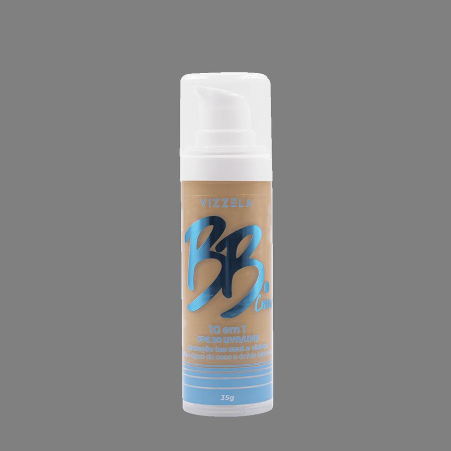 Vizzela BB Cream Cor 04 FPS 30 Uva/Uvb Proteção Luz Azul e Visivel 10 em 1 35g