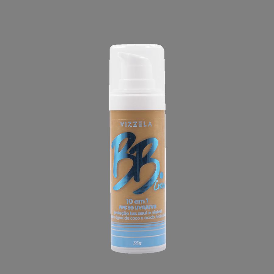 Vizzela BB Cream Cor 05 FPS 30 Uva/Uvb Proteção Luz Azul e Visivel 10 em 1 - 35g