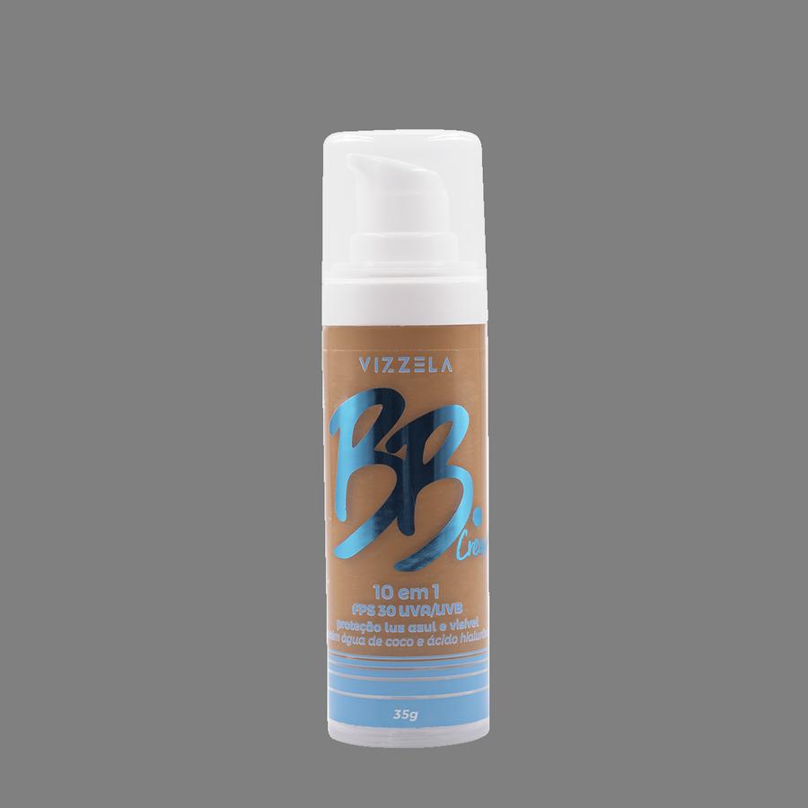 Vizzela BB Cream Cor 06 FPS 30 Uva/Uvb Proteção Luz Azul e Visivel 10 em 1 - 35g