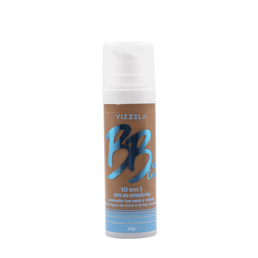 Vizzela BB Cream Cor 07 FPS 30 Uva/Uvb Proteção Luz Azul e Visivel 10 em 1 - 35g