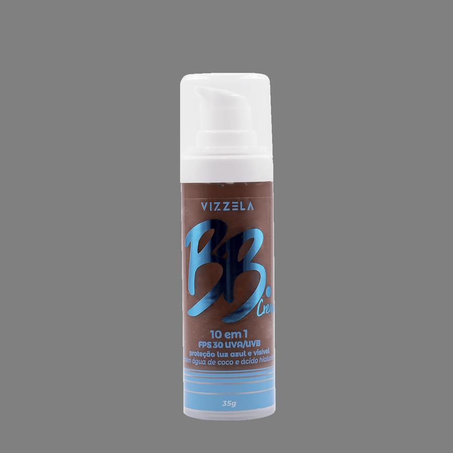 Vizzela BB Cream Cor 08 FPS 30 Uva/Uvb Proteção Luz Azul e Visivel 10 em 1 - 35g