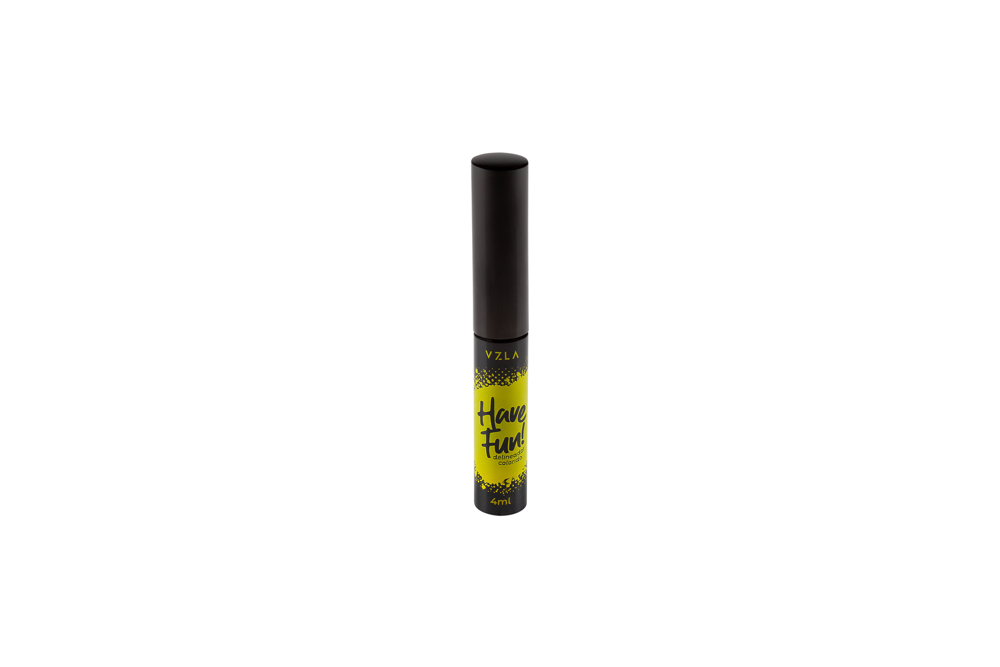 Vizzela Delineador Have Fun Cor Amarelo Oftalmologicamente Testado 4ml