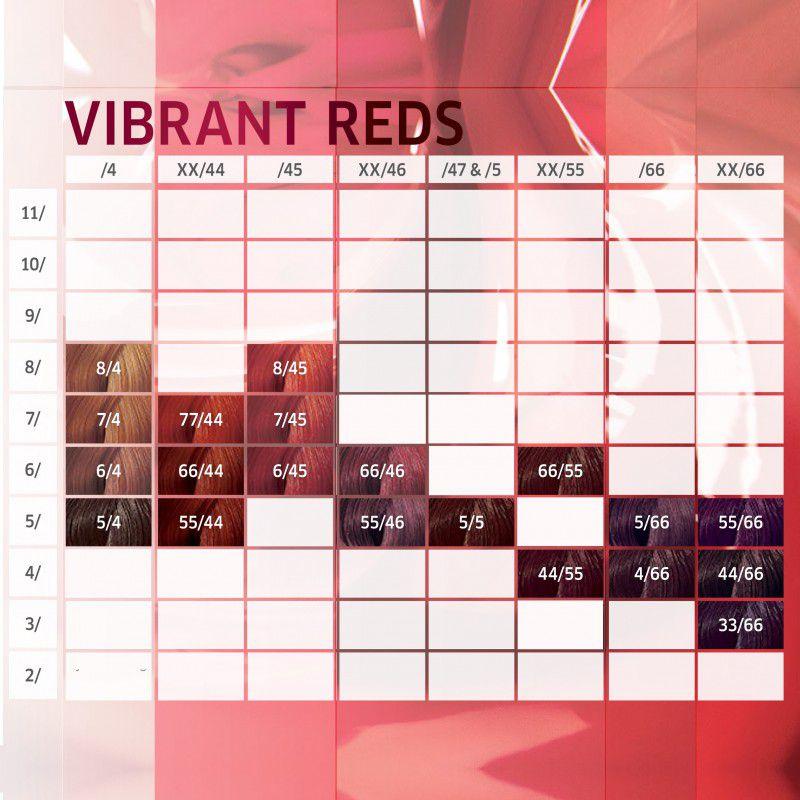Wella Professional Color Perfect Vibrant Reds 55.46 Castanho Claro Intenso Vermelho Violeta 60g