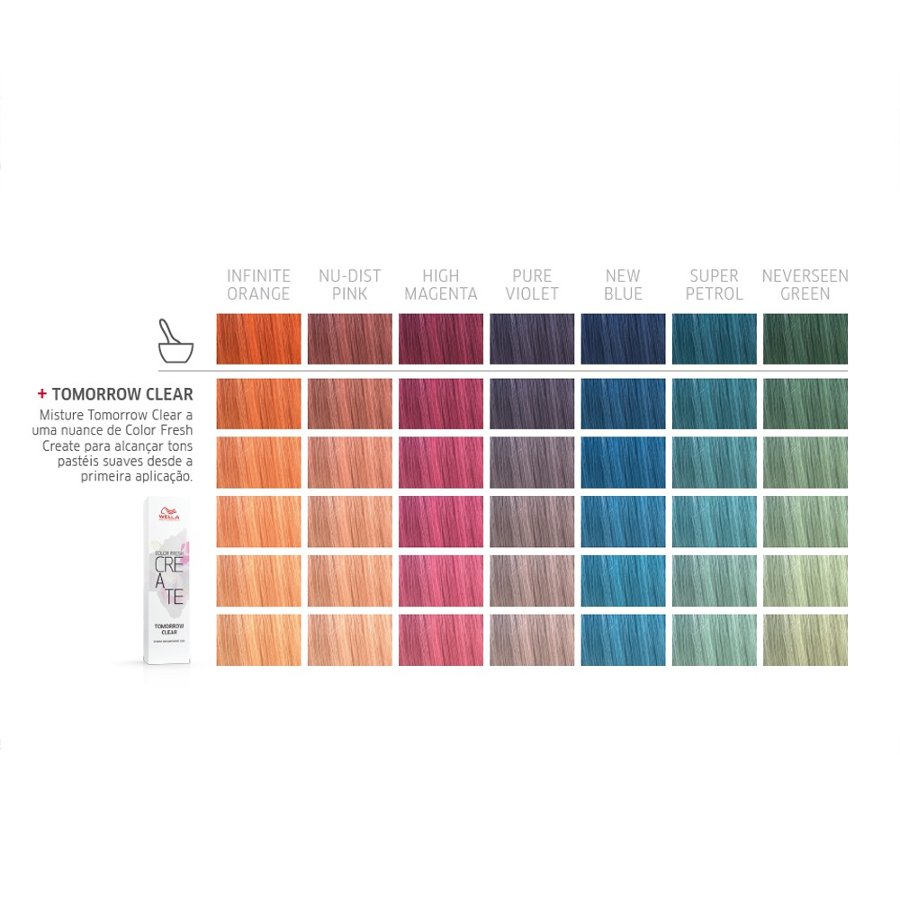Wella Professionals  Color Fresh Create Coloração Fantasia Cor Infinite Orange - 60ml