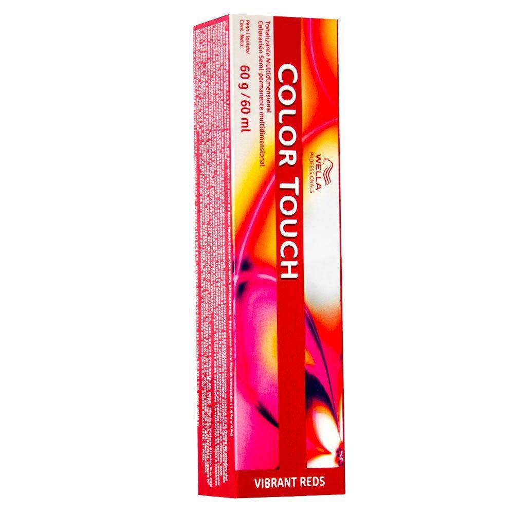 Wella Professionals Color Touch Vibrant Reds 55.54 Castanho Claro Intenso Acaju Avermelhado 60g