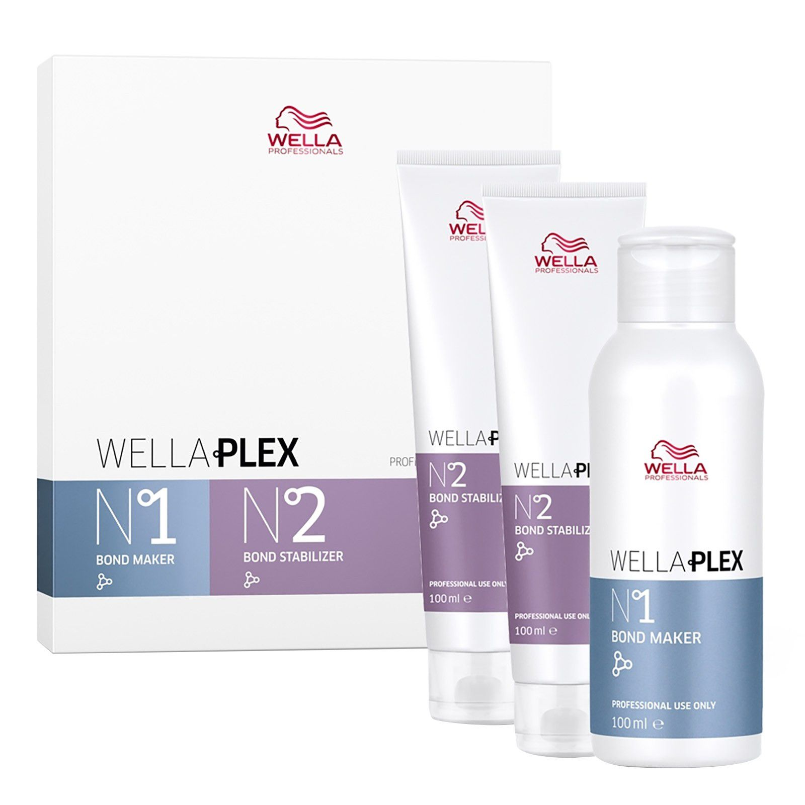 Wella Professionals Wella Plex Kit 1 Bond Maker nº1 100ml e 2 Bond Stabilizer nº 2 100ml