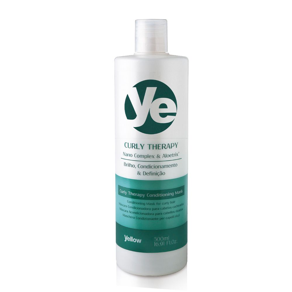 Yellow Curly Therapy Máscara Condicionadora para Cabelos Cacheados 500ml