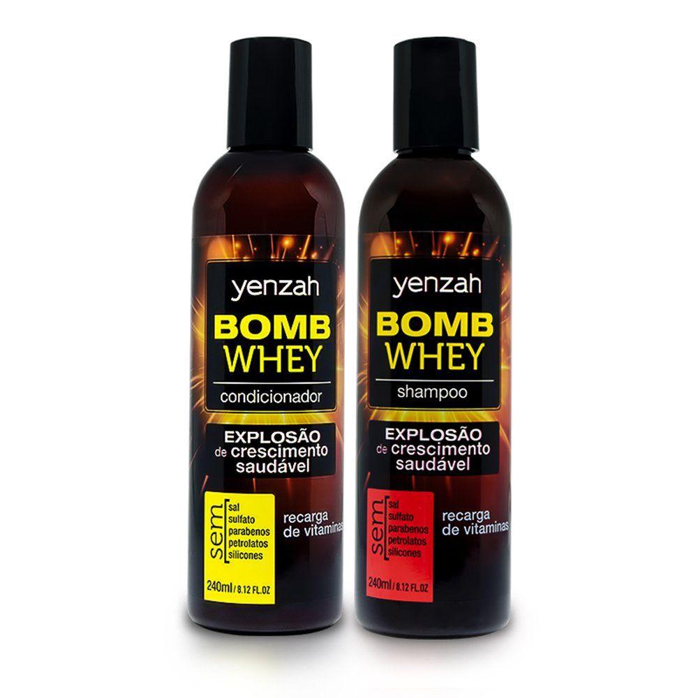 Yenzah Kit Shampoo e Condicionador Bomb Whey