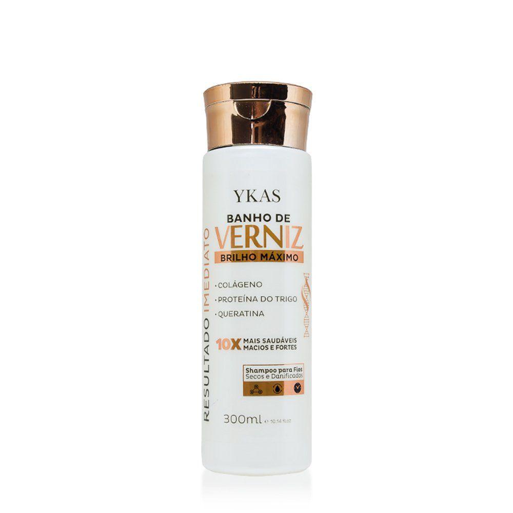 Ykas Shampoo Banho de Verniz Brilho Maximo - 300ml