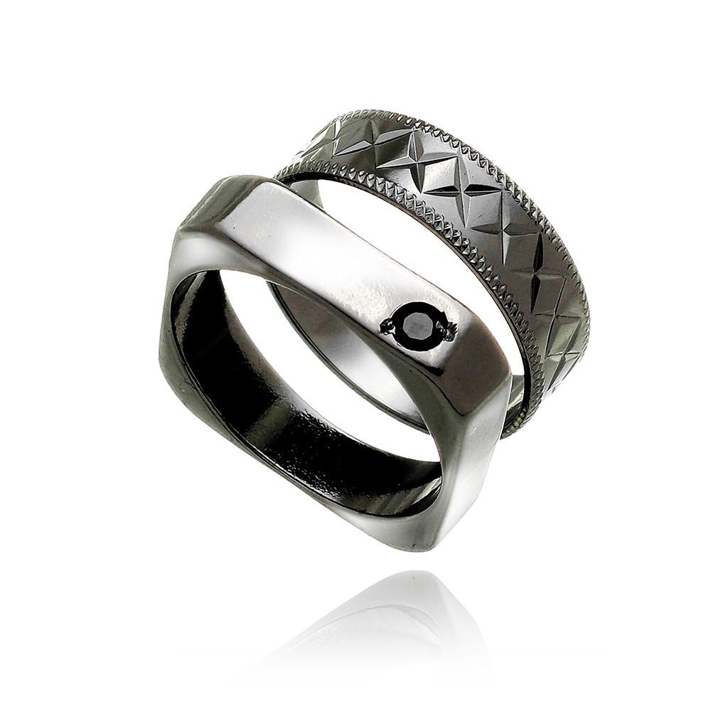 Anel Masculino Arabesco Diamond Black