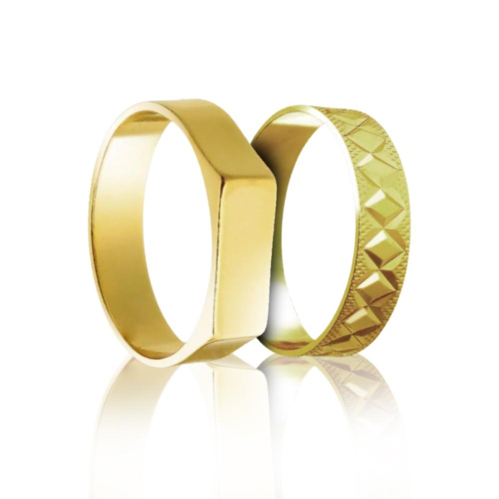 Anel Masculino Arabesco Retangular Gold