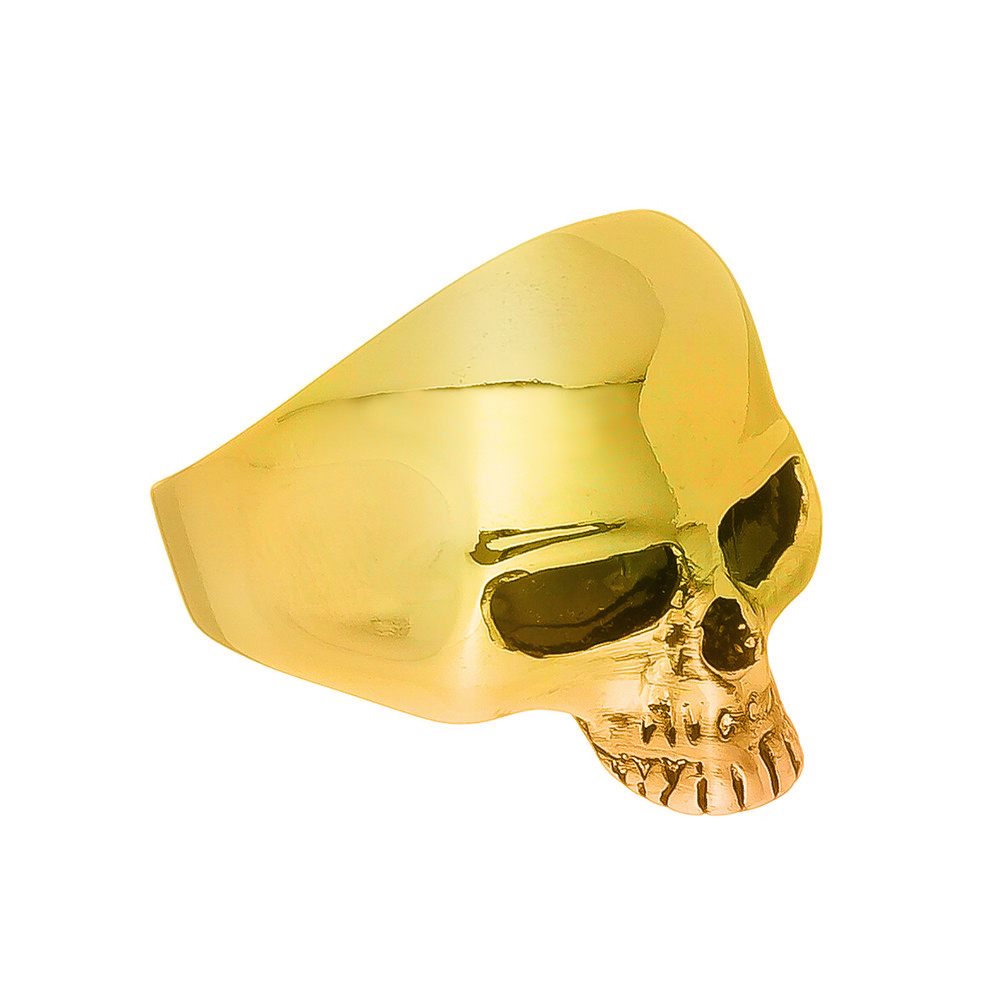 Anel Masculino Caveira Dourada