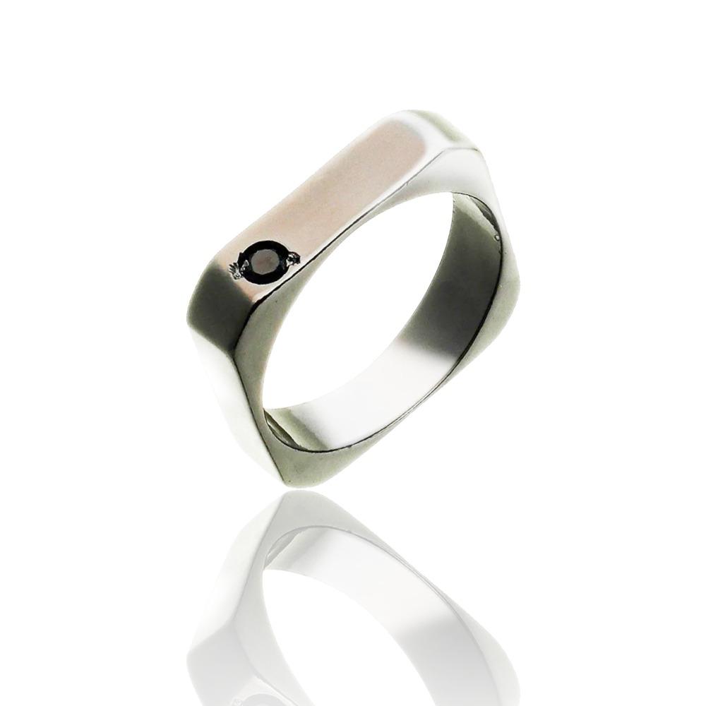 Anel Masculino Diamond Silver