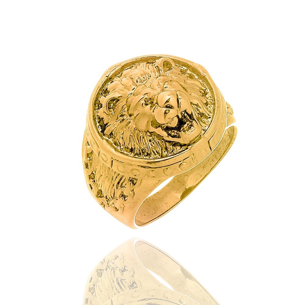 Anel Masculino Lion Gold