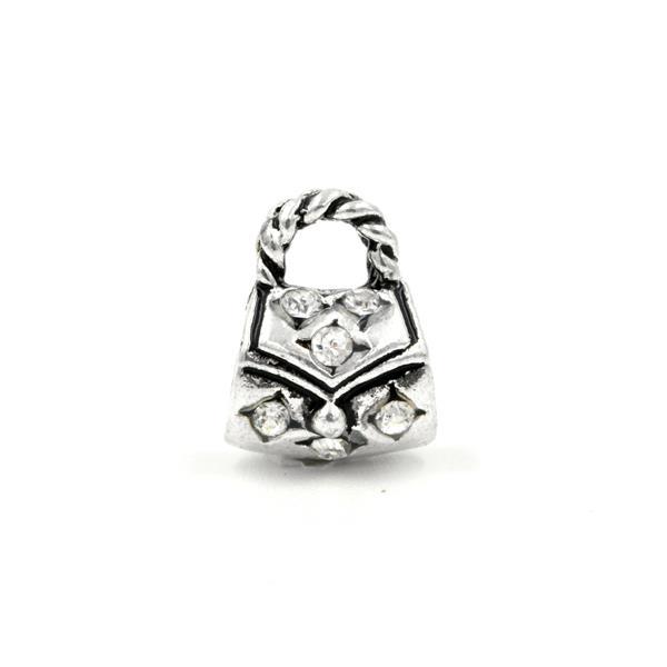 Berloque Charm Pandora Inspired Bolsa Cristal