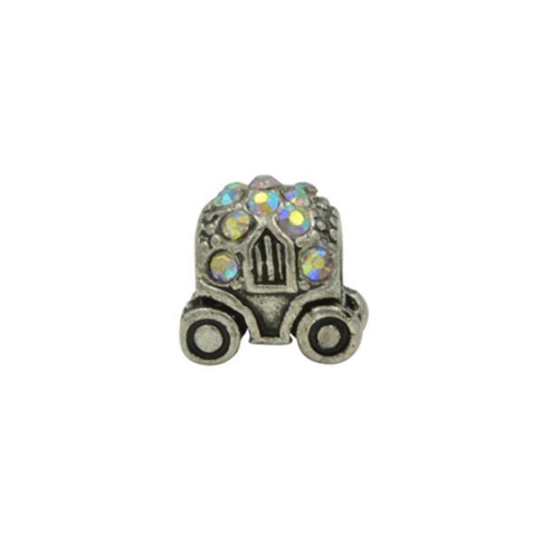Berloque Charm Pandora Inspired Carruagem de Strass Frutacor