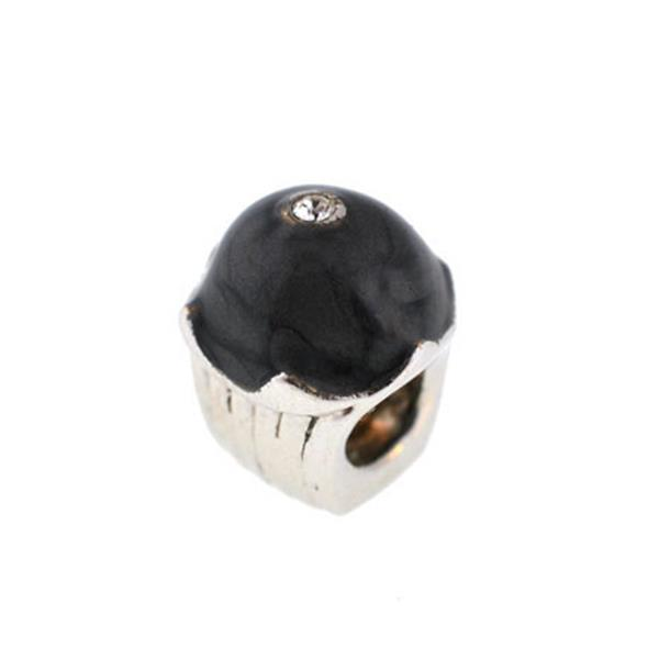 Berloque Charm Pandora Inspired Grey Cupcake