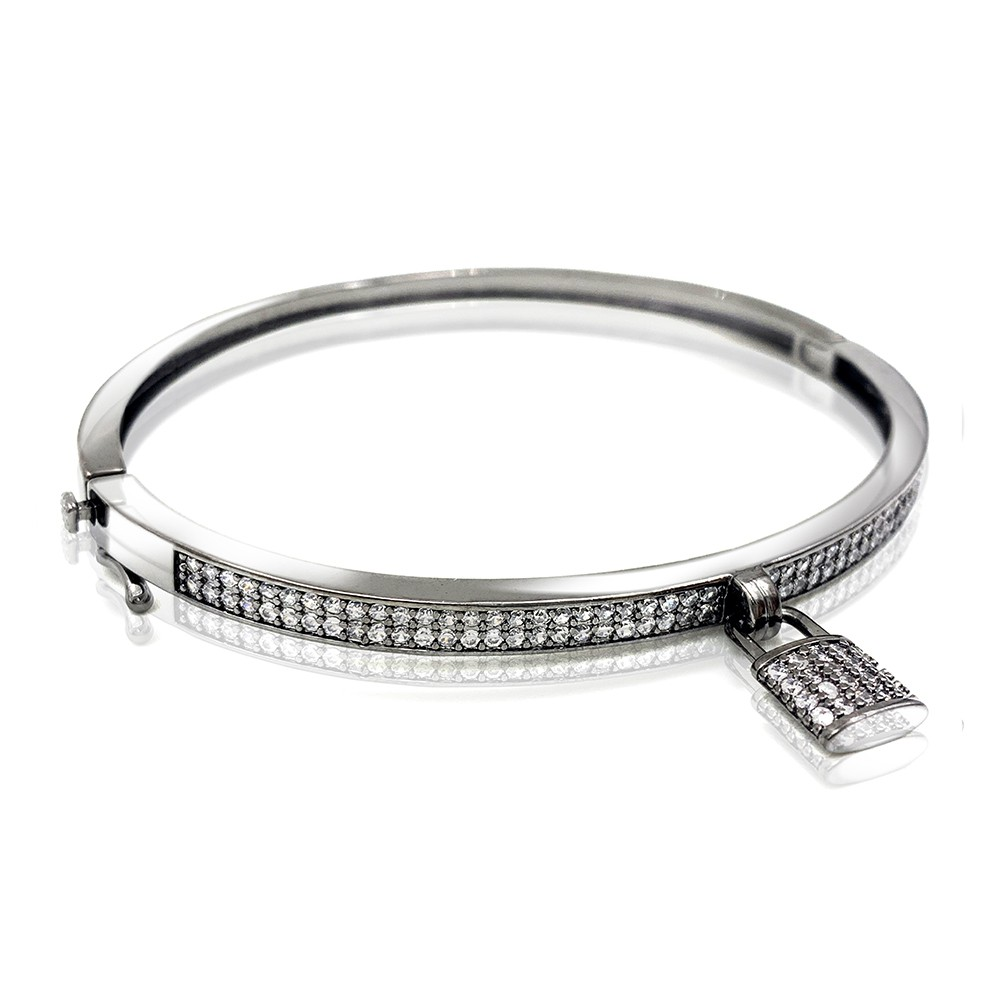 Bracelete Diamond Locker Silver