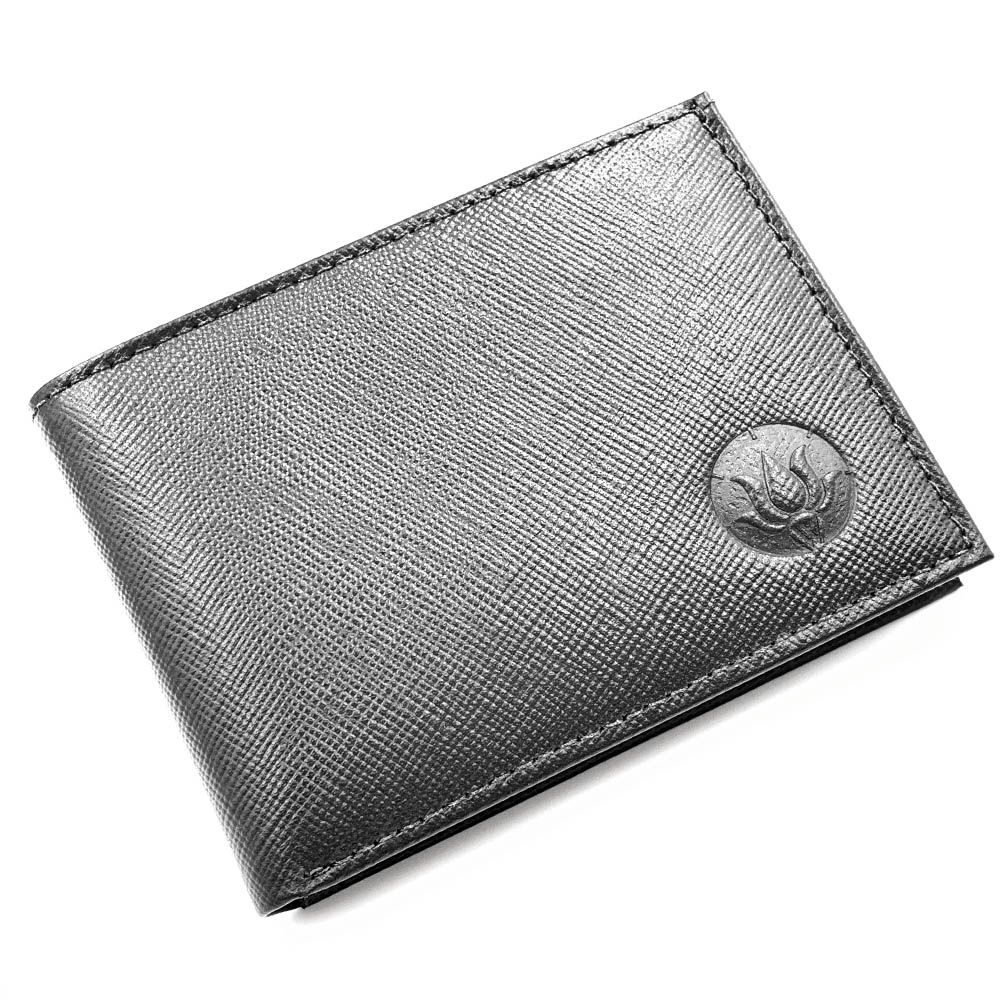 Carteira Pocket Saffiano Black Leather