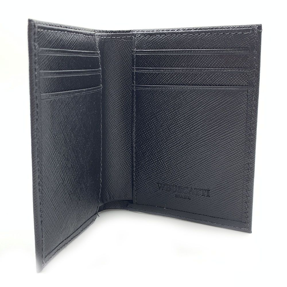 Carteira Saffiano Black Leather