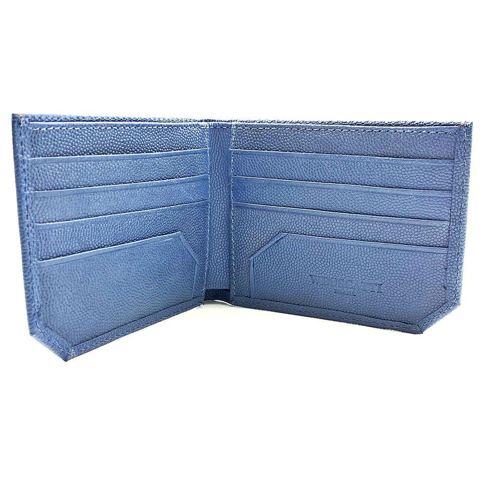 Carteira Stingray Leather Blue