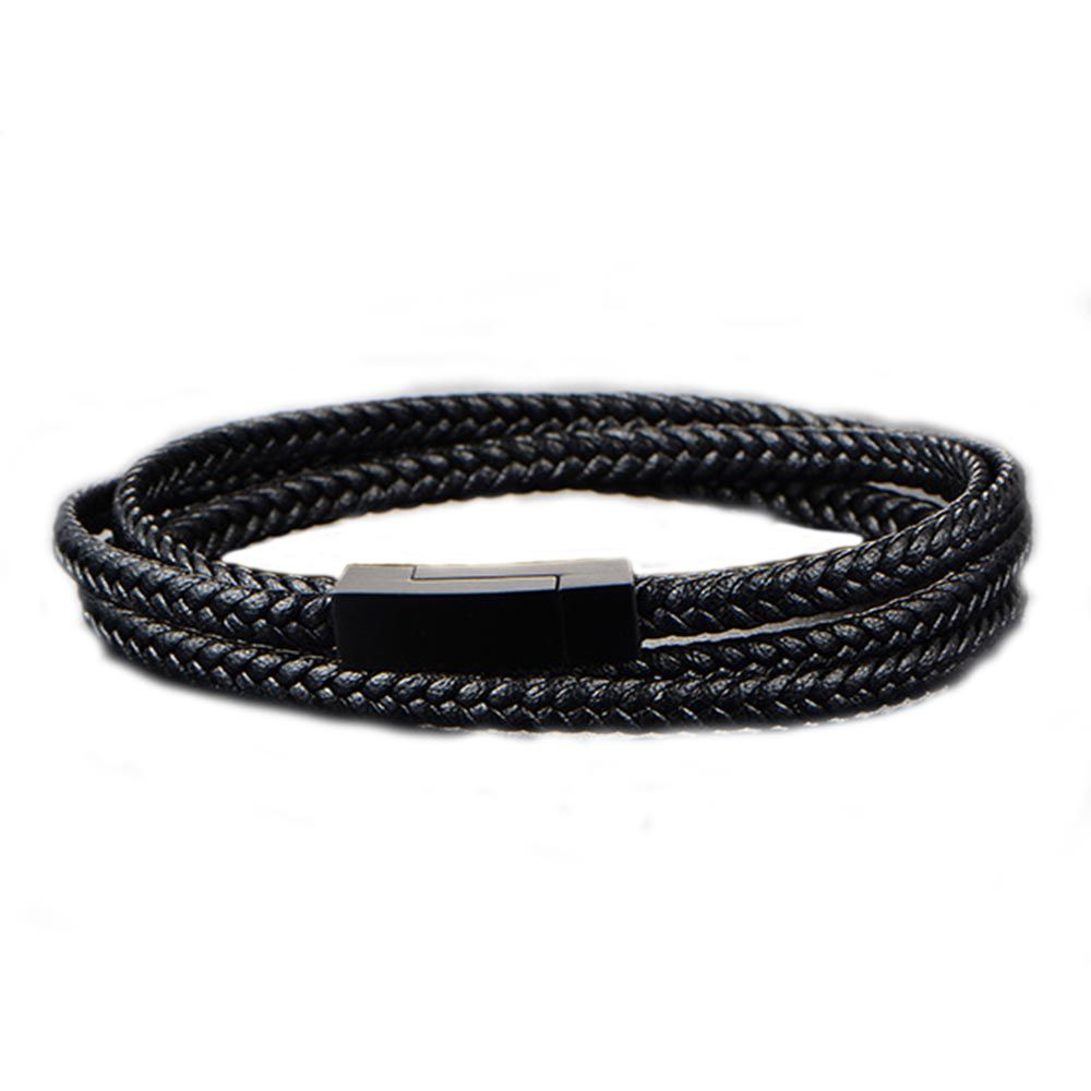 Pulseira Chevron Triple Black