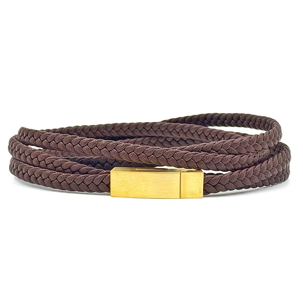 Pulseira Chevron Triple Brown