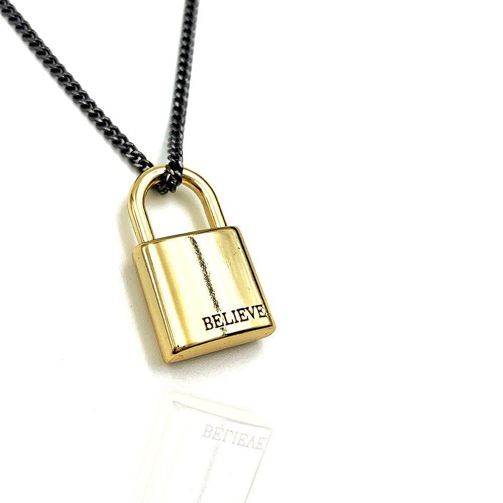 Colar Cadeado Gold