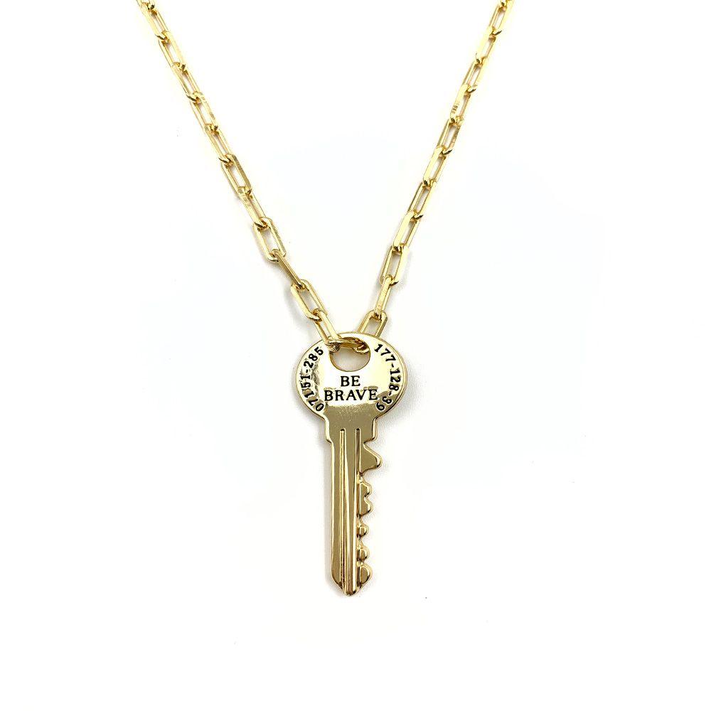 Colar Cartier Chave Dourada