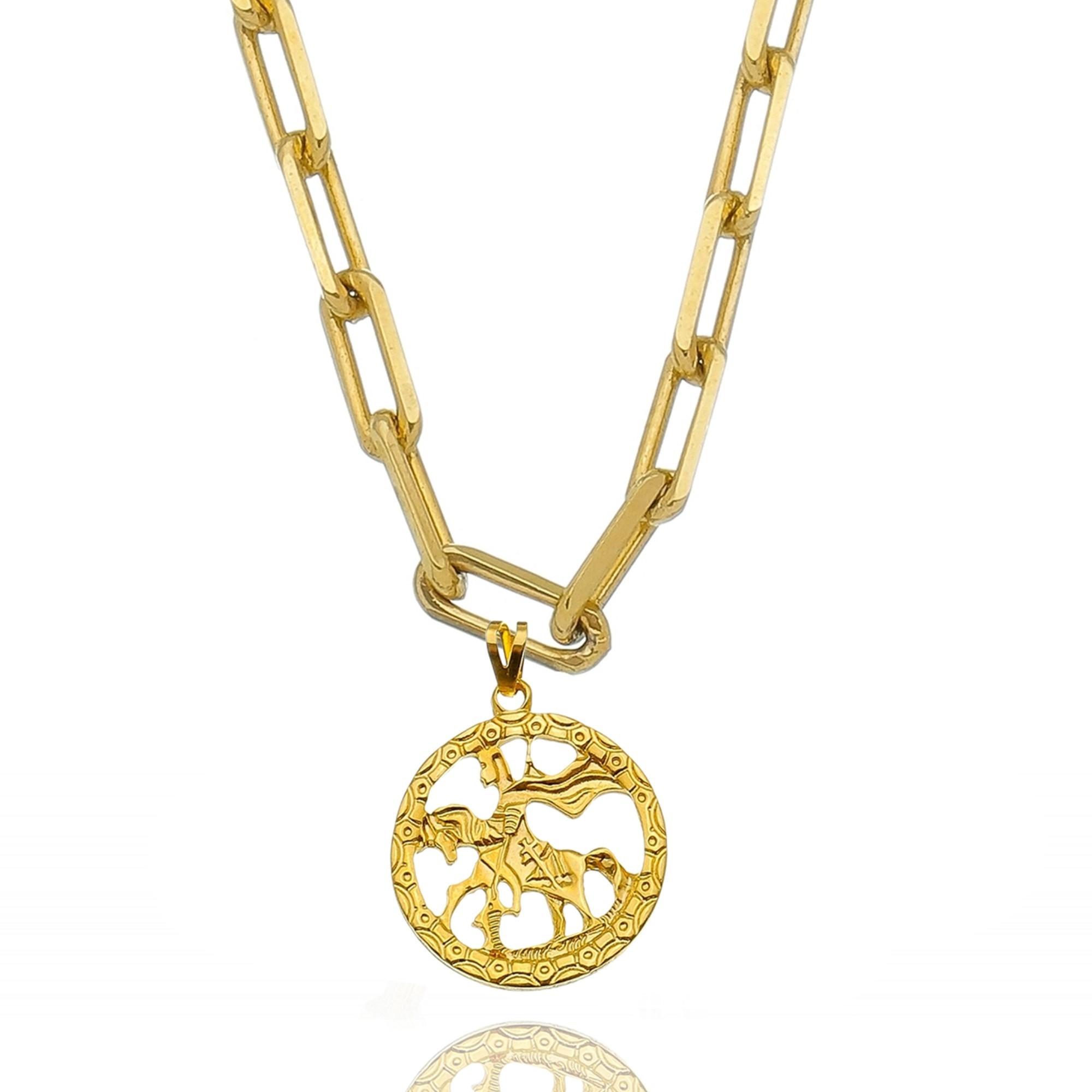 Colar Cartier São Jorge Ouro