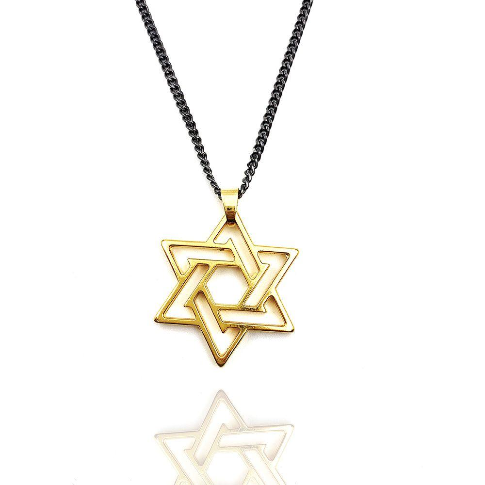 Colar Estrela de Davi Dourada