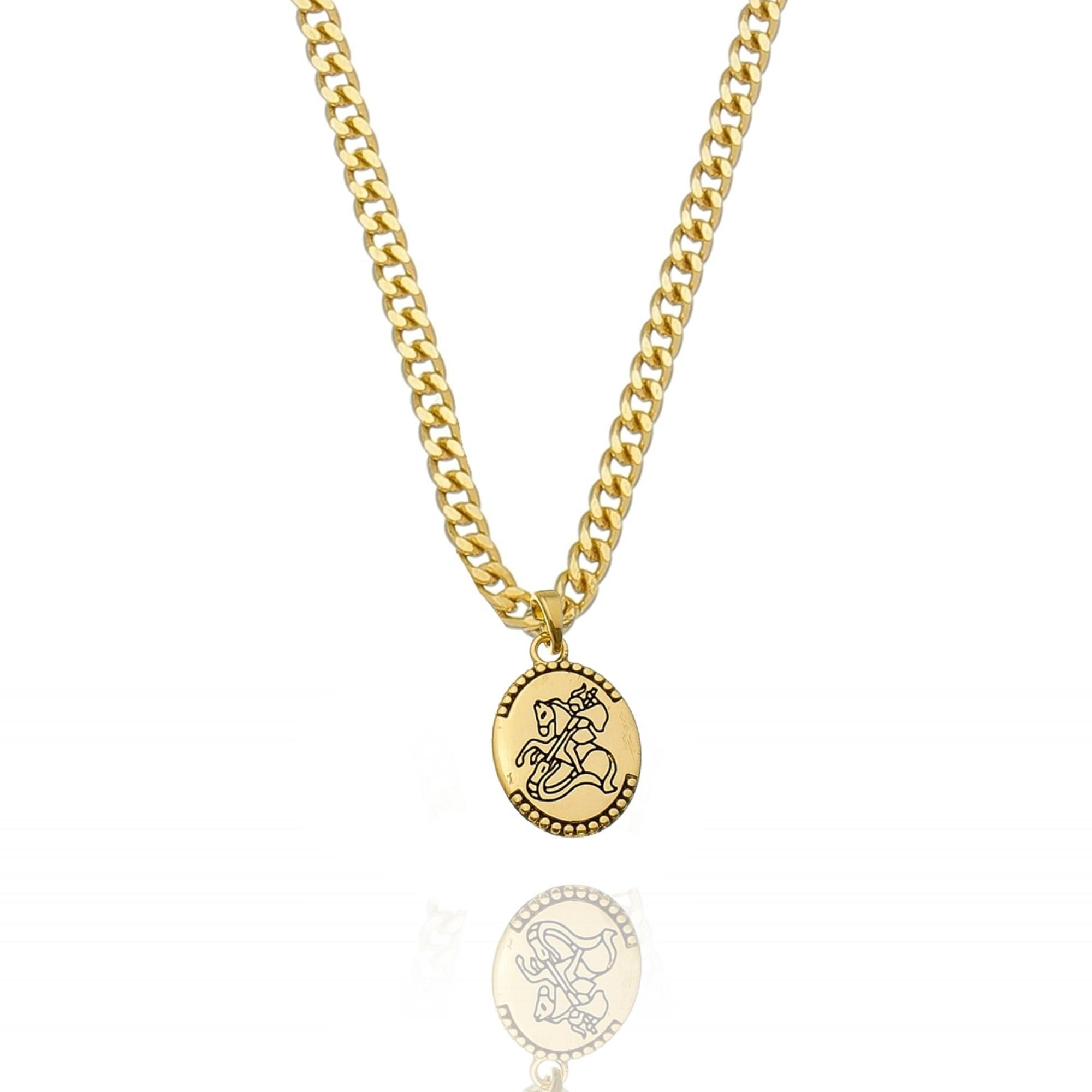 Colar Grumet Medalha São Jorge